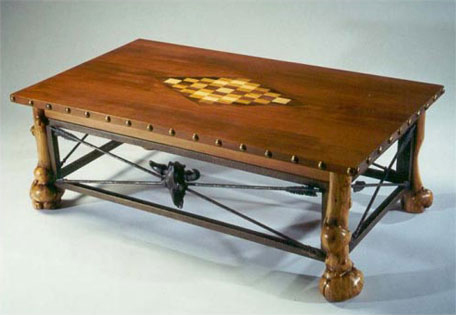 Inlaid Cocktail Table